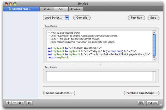RapidScript interface