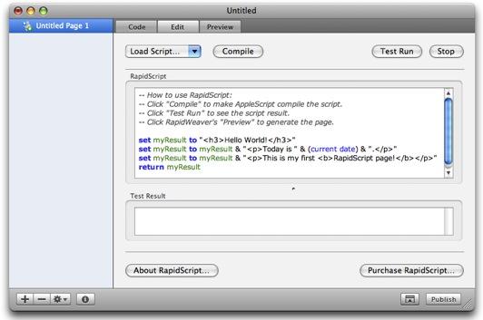 RapidScript interface